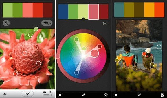 پالت رنگ از مواد منبع طراحی