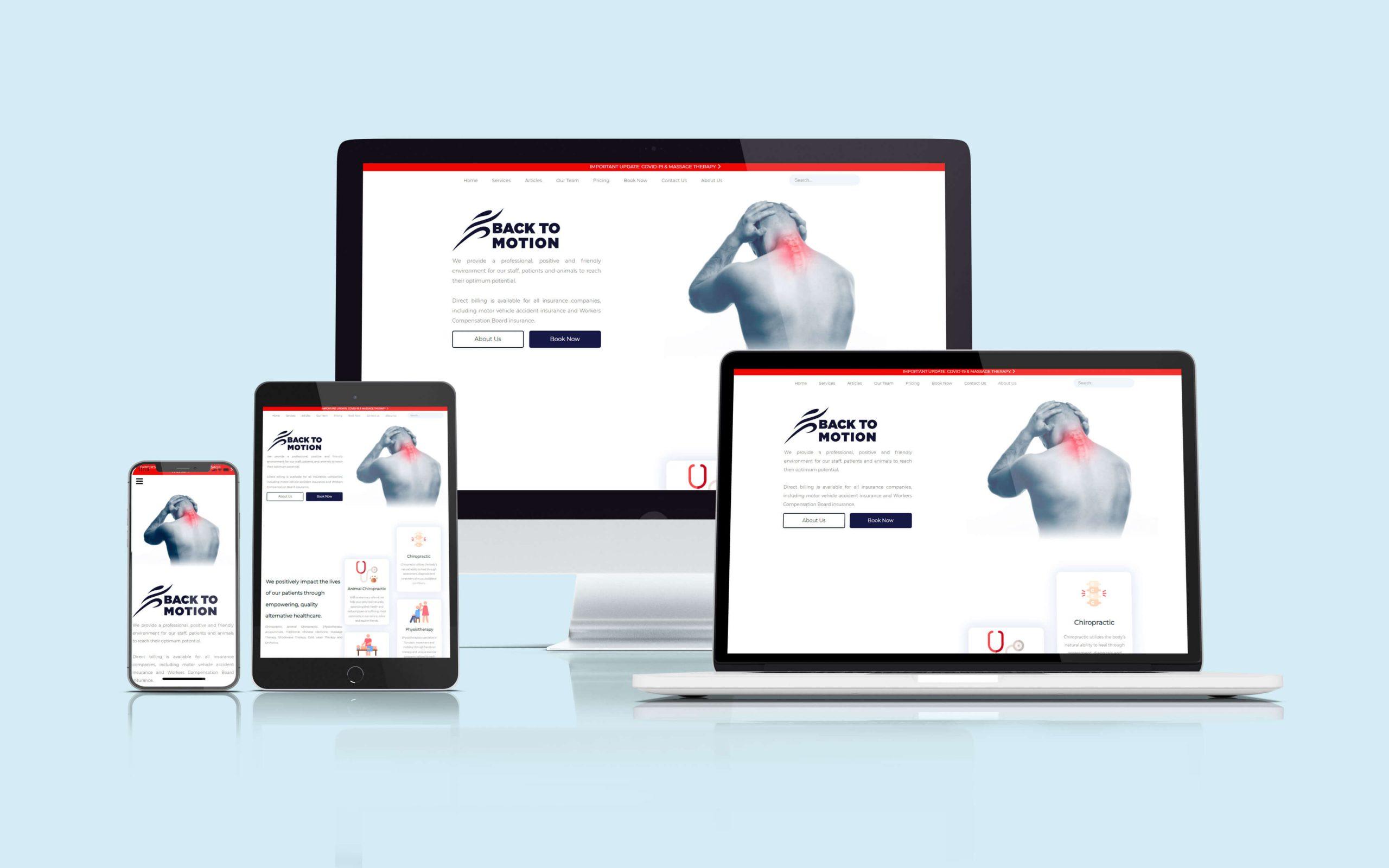 طراحی وب سایت backtomotion
