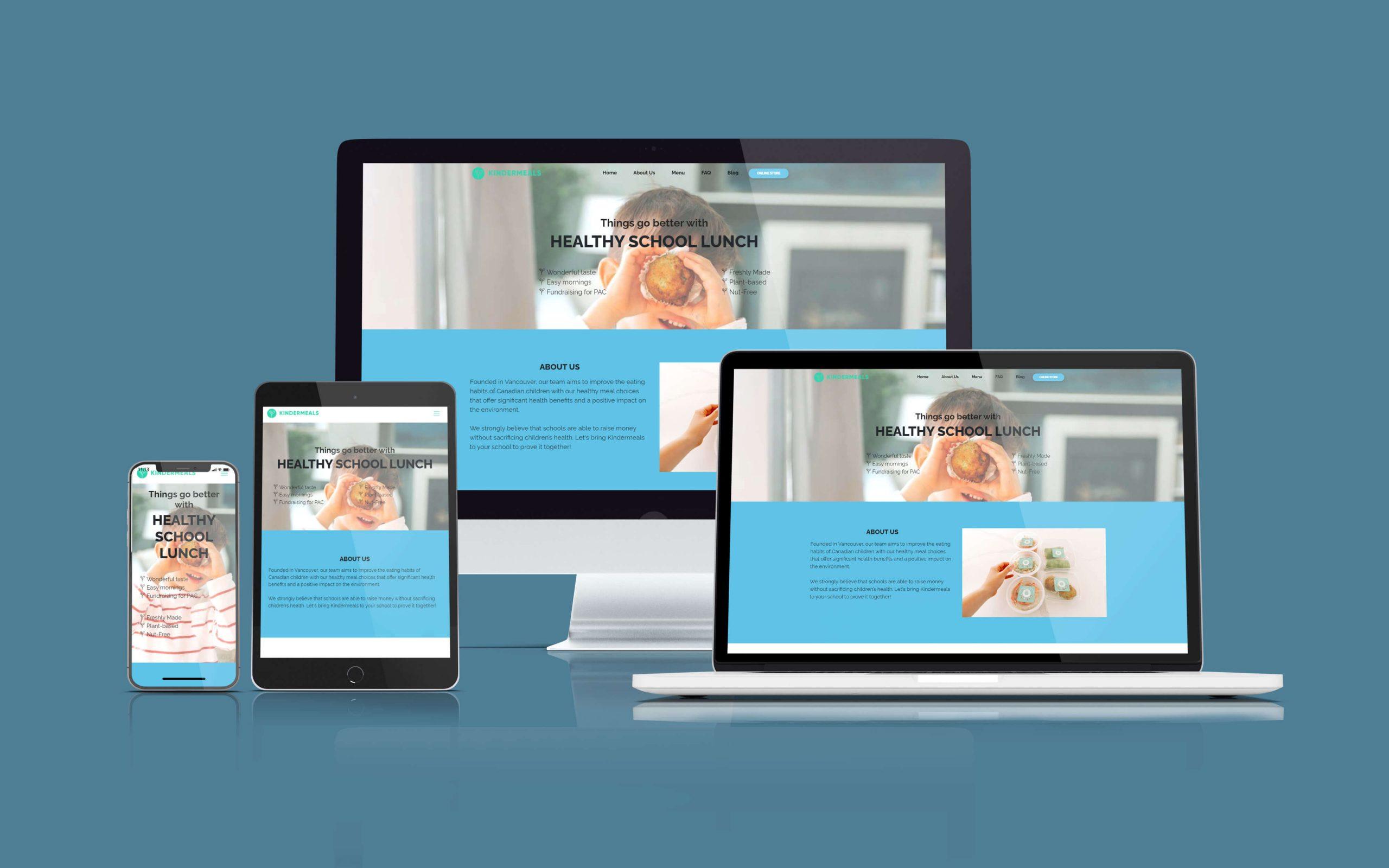 کیندر میلز - ظراحی وب سایت