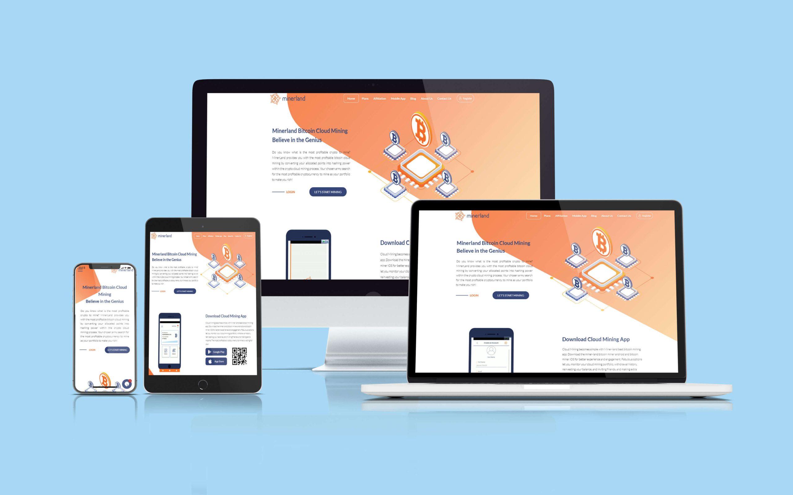 طراحی وب سایت miner-land